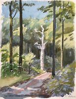 Karl Adser 1912-1995 Der tote Baum im Wald Sommer Dänemark Natur
