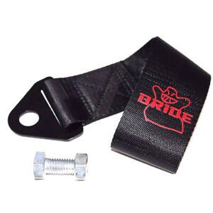 Black Bride Racing High Strength Universal Nylon Car Trailer Tow Ropes Strap Tow