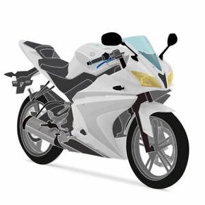 Unlackiertes 21-teiliges Verkleidung-Kit für Yamaha YZF-R125 14-18