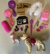Vintage Barbie Lot of 18: Trunks, Dogs, Umbrella, Boombox, Camera, Cellphone
