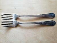 "2 ANTIQUE Vintage Collectible ANTIQUE FORKS 7.25"",WM ROGERS MFG CO EXTRA PLATE"