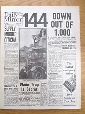 WW2 Newspaper August 16 1940 144 Enemy Planes Down Daily Mirror Battle Britain
