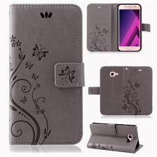 Samsung Galaxy A5 2017 Handy Tasche Handyhülle Schutz Hülle Blumen Flip Cover