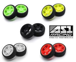 22025-28 1/10 Scale OnRoad Nitro Touring Drifting Car 2 Wheels and Tyres 5 Spoke