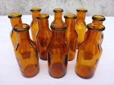 5 x alte braune Medizin Glas Apotheke Apotheker Flasche 20 ml ca. 7,5 cm braun