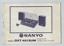 SANYO - GTX 4513UM  -  OPERATING INSTRUCTIONS   ( ORIGINAL BOOK )
