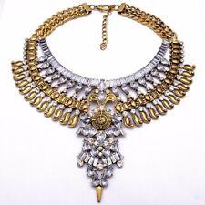 Gold Boho Festival Collar Choker Tribal Jewelry Ethnic Statement Necklace UK