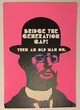 Vintage Poster Bridge The Generation Gap Turn Old Man On 1960's Hallmark Hat