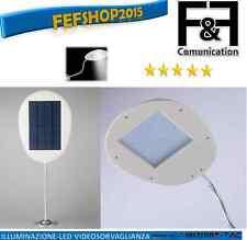 lampione led solare faro faretto applique ricaricabile 18LED crepuscolare 3W FEF