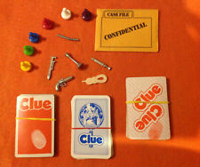 Board Game Parts: Clue, Parker Brothers, various years, replacement pieces