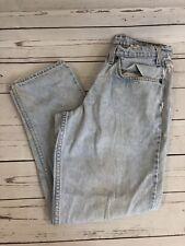 Vintage Levis 550 Relaxed Fit Acid Wash Orange Tab Jeans Size 32/27