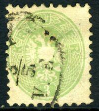 Austria 1860 Cappotto Of Arms 3kr Verde VFU M462 ⭐⭐⭐⭐⭐⭐