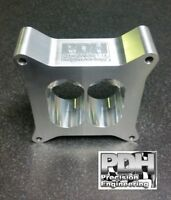 """2"""" CARBY SPACER, 4150 HOLLEY, SUIT DUAL PLANE MANIFOLD, TAPERED 4 HOLE TO 2,"""