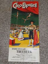 CIRCO ESPANOL SPANISH CIRCUS ART first time in TREEBEEK Netherlands POSTER 1958