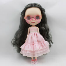 """Takara 12"""" Neo Blythe Grey Hair Matte Face Nude Doll from Factory Tby128"""