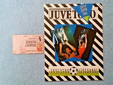 1984 - UEFA SUPER CUP FINAL PROGRAMME + TICKET - JUVENTUS v LIVERPOOL - ORIGINAL