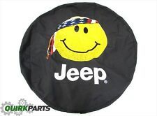 Jeep Wrangler American Flag Bandana Yellow Smiley Face Spare Tire Cover OEM NEW