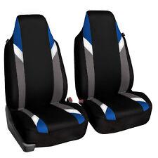 Supreme Modernistic High Back Pair Bucket Car Auto SUV Covers Blue Black