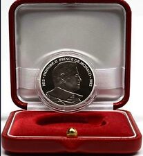 Monaco 2012 10 EURO SILVER honore II in official box with certificate. 6500 only