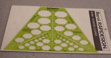 Timesaver #123 Isometric Ellipses Drafting Drawing Template New Free Ship