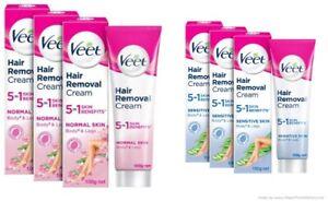 (Pack of -3) Veet 5 in 1 Skin Benefits Hair Removal Cream -100g Each Choose Pack