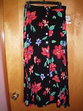 NWT NEW womens size 4 6 8 10 black red blue green WORTHINGTON long a-line skirt