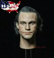 "1/6 Joker Head Sculpt Heath Ledger For 12"" Hot Toys Male Figure ❶USA IN STOCK❶"