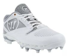 NEW Mens Warrior GOSPEL White Gray Lacrosse Cleats Size 7