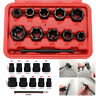 11pcs Damaged Lug Nut And Lock Remover Twists Socket Set Screw Extractor Tool