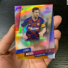 19-20 TOPPS FINEST UEFA CHAMPIONS LIONEL MESSI SUPER REF 21/25 CARD RARE HOT