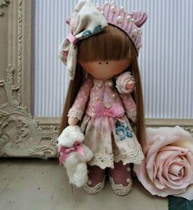 Rag doll handmade Cloth doll Tilda doll Rag Ooak doll CHRISTINA 8 inch tall
