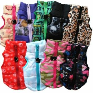 Small Dog Clothes Warm Windproof Winter Coat Jacket Padded Clothes Puppy Outfit