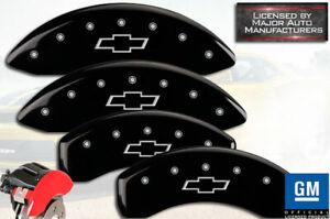 2015-2020 Chevy Colorado Front + Rear Black MGP Brake Disc Caliper Covers Bowtie