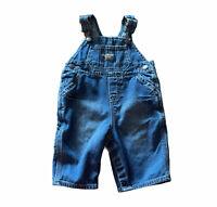OshKosh Baby Overall Denim Jean Bib Size 6 Months Vestbak Boy Girl Unisex Infant