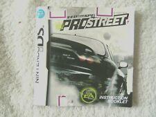 48221 Instruction Booklet - Need For Speed Prostreet - Nintendo DS (2007) NTR-YN