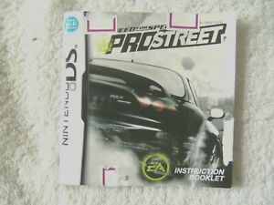 48221 Instruction Booklet - Need For Speed Prostreet - Nintendo DS (2007) NTR-YN