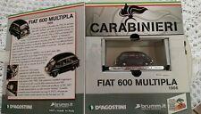 Modellino Carabinieri fiat 600 Multipla 1956 De Agostini scala 1/43