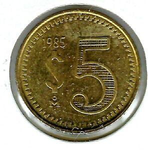 1985 Brilliant Uncirculated Mexico 5 Peso Coin!