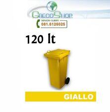 Cassonetto/Pattumiera/Bidone per raccolta rifiuti uso esterno 120lt giallo
