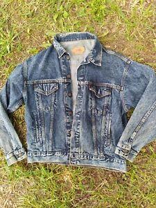 Vintage USA Levis Trucker Jean Jacket Mens Size M 70507 0227 80s Acid Wash Denim