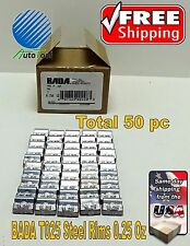 WHEEL WEIGHTS STEEL Clip on RIMS 0.25 Oz, 50 pc Box BADA T 025  MADE IN USA
