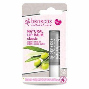2 x Benecos Natural  Lip Balm Classic 4.8g