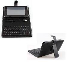 """Custodia Cover Stand per Tablet 7"""" Pollici UNIVERSALE con Tastiera Micro Usb"""