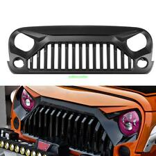 Black Angry Monster Birds Matte Grille Grid For Jeep Wrangler JK 2007-2017