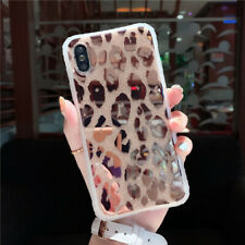 For iPhone 11 Pro XR 8 7 Xs Fashion Leopard Print Glitter Shockproof Case Cover