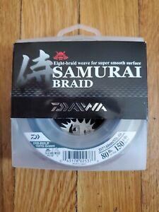New Daiwa Samurai Braided Line - Green 80lb Test, 150 yards - DSB-B80LB150YG