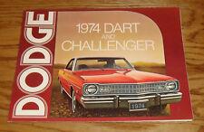 Original 1974 Dodge Dart & Challenger Foldout Sales Brochure 74