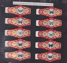 Série complète  Bague de Cigare Vitola Espagne BN115377 Papillon