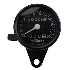 Mini Tachometer Speedometer Schwarz kleiner Motorradtacho für Cafe Racer Bobber