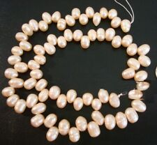 Pearls top drilled Fresh water cultured 8mmX6mm 15 inch BS038
